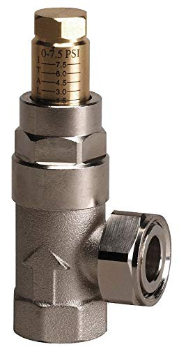 FNPT x NPT Union Differential Bypass Valve, 200 psi Max. Pressure