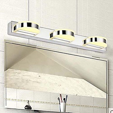 Mirror Front Lamp 3 Light Simple Modern Artistic , 100-120V by DingFei