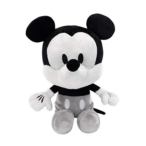 Lambs & Ivy Disney Baby Mickey Mouse Plush Stuffed Animal Toy, Black/White