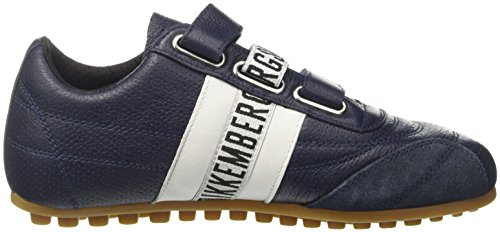 Bikkembergs Soccer 106, Sneakers Basses Mixte Adulte, Bleu (White/Bluette), 36 EU