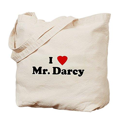 CafePress–I Love Mr Darcy–Borsa di tela naturale, panno borsa per la spesa