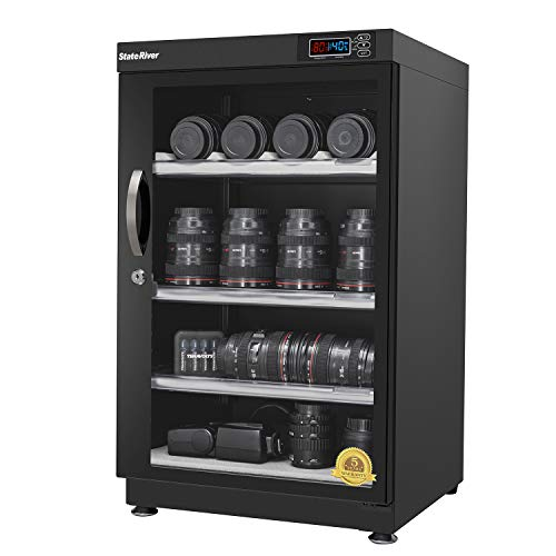 StateRiver Electronic Dry Cabinet Camera Cabinet for Camera Lens and Other Photographic Equipments 98 Litre