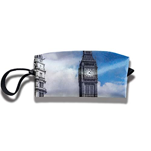 Travel Toiletry Pouch Big Ben Shaving Kit Make-up Bag with Handle,Portable Organizer Receive Cosmetic Storage Case for Women and Men]()