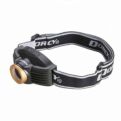 Dorcy 214-Lumen Weather Resistant Spot Beam LED Headlight, Black and Gold (41-2097)