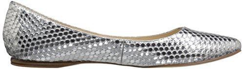Nine West Ballet de Speakup sintética plana Light Silver Synthetic