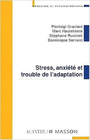 Livre gratuits Stress anxiété et trouble de l'adaptation pdf epub