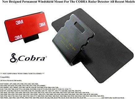 Cobra Radar Detector Windshield Mount - CBT3M Improved 3M Taped Permanent Windshield Mount for Most Models of Cobra Radar Detectors