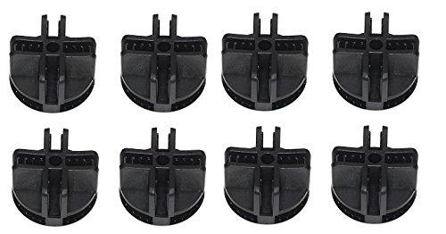 JSP Manufacturing Wire Cube Plastic Connectors snap mesh organizer grid NEW! (8, Black) ()