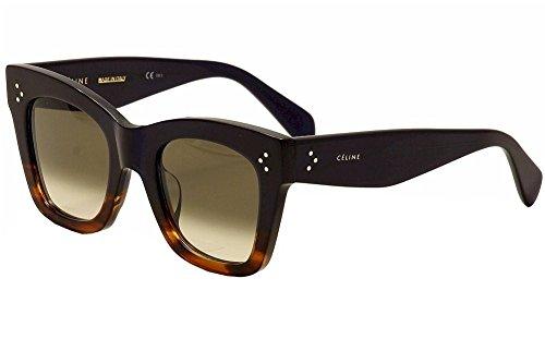 Celine 41098 F/S 0QLT Havana Blue Blue - Celine Sunglasses