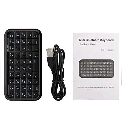HonsCreat Black Mini Bluetooth Wireless Keyboard for iPhone 4, iPad, iPaq, PDA, MAC, OS, PS3, Droid, Smart Phones, PC, Computers