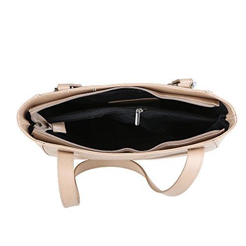 Italie Cm en femme véritable bandoulière à 34x23x10 Fabriqué Sac cuir Borse en Boue Chicca 7qHBvv