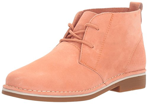 (Hush Puppies Women's Cyra Catelyn Ankle Bootie, Peach Suede, 7.5 W US)
