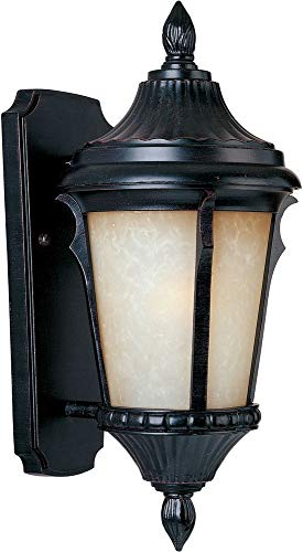 Maxim 86013LTES Odessa EE 1-Light Outdoor Wall Lantern, Espresso Finish, Latte Glass, GU24 Fluorescent Fluorescent Bulb , 60W Max., Damp Safety Rating, Standard Dimmable, Glass Shade Material, 1344 Rated Lumens