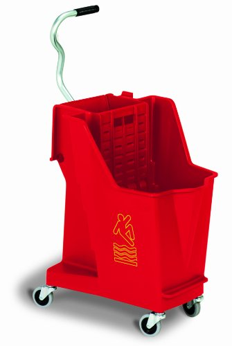 Continental 351RD, Red 35 Quart Unibody Mopping System (Case of 1) by Continental