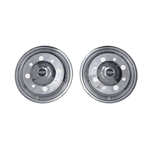 Pacific Dualies 33-2950 19.5'' Stainless Steel Wheel Simulator Front Tag-Axle Kit for Chevy 2010 - Earlier GMC 4500/5500/6500 & 2014 - Earlier Ford F650 Truck RV Motorhome by Pacific Dualies