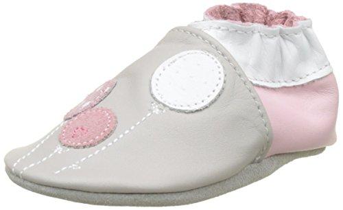 Robeez Baby Mädchen Ballooninthesky Lauflernschuhe für Babys Gray (Hellgrau)