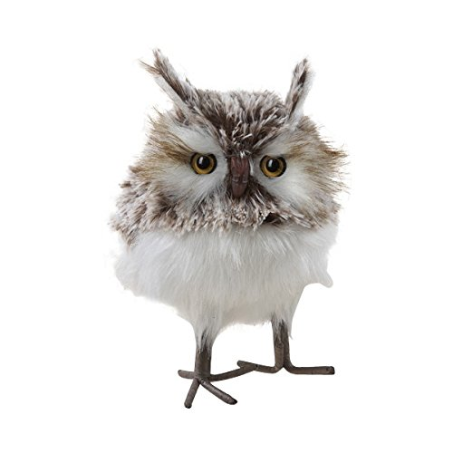 Kurt Adler Furry Owl Ornament, 7-Inch, Brown