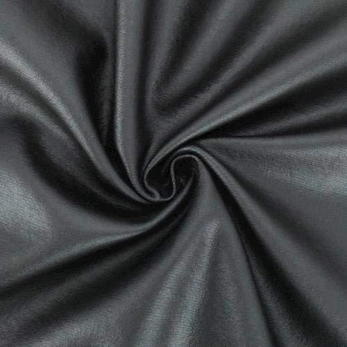 Ebony Black Pleather Knit, Fabric by The Yard ()