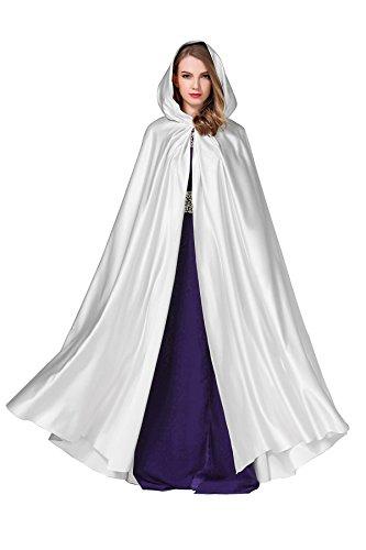 BEAUTELICATE Women's Wedding Hooded Cape Bridal Cloak Poncho Full Length ()