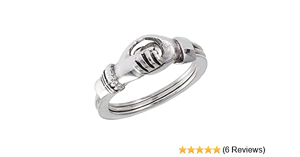 CloseoutWarehouse Sterling Silver Holding Hands Family Ring