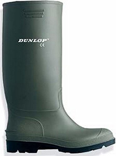 Dunlop Stiefel Sohle PVC mit ausgezeichneten Grip, vor und Ferse verstärkt (47)