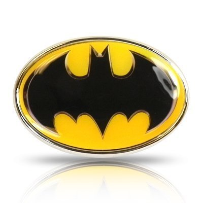 Batman Yellow Metal Auto Emblem, Official Licensed