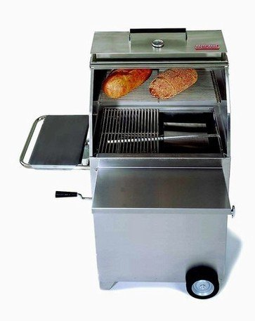 - Hasty-Bake Continental 84 Stainless Steel Charcoal Grill