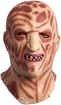 Máscara De Halloween Quemado Monstruo Horror Humeante Cara Superior Equipo para La Fiesta: Amazon.es: Juguetes y juegos