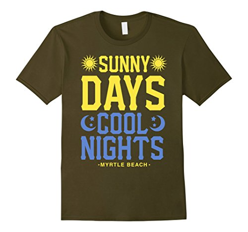 Mens Sunny Days Cool Nights Myrtle Beach T-Shirt XL - Cool Sunnies