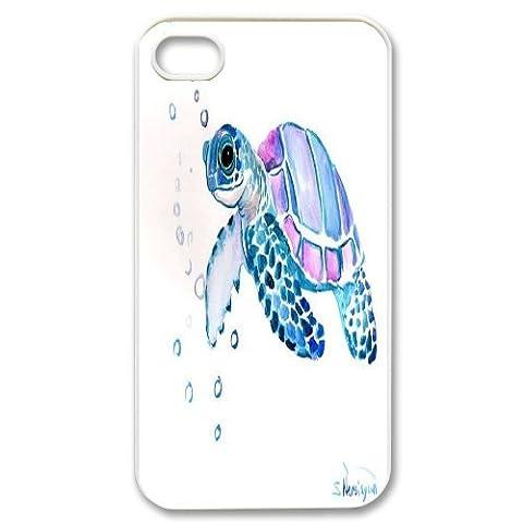 billjams sea turtle personalized Custom Phone Case For Iphone 4/4s [Pattern-6] (Personalized Iphone 4s Phone Case)