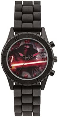 Star Wars Boy's Quartz Watch with Multicolour Dial Analogue Display and Black Silicone Strap SWM3053