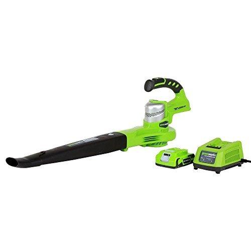 Greenworks G-24 130 MPH 135 CFM 24-Volt Cordless Handheld Blower, 2 Speeds, Lightweight Garden Blower, Outdoor, GW24352 by Unknown