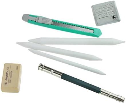 Amazon.com: Portátil 18 Pcs esbozo lápices Enrollar lápiz ...