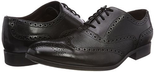 de Cordones Gilmore Gilmore Cordones negro para Hombre Leather Brogue Zapatos Negro 4d4c70