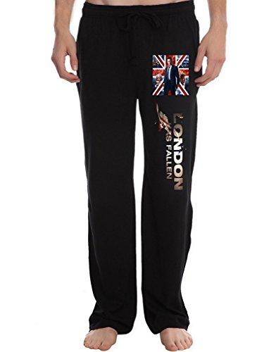 RBST Men's london fallen notice Running Workout Sweatpants Pants XL Black