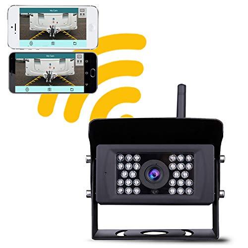 Wireless Backup Camera, LASTBUS Night Vision Wide View Angle IP69 Waterproof WiFi Rear View Camera WiFi Backup Camera…
