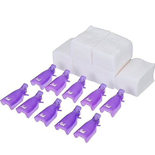 eBoot Nail Cap Clips UV Gel Polish Remover Wrap 10 Pack with