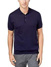 e6bfa804ef63 Men s Supima Cotton Sweater Polo in Navy Blue