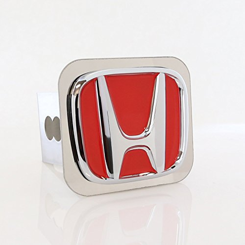 Honda 3D Red Logo Steel Tow Hitch Cover Plug, Official Licen