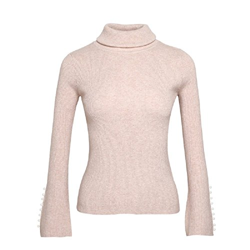 JamCLO Fine Ladies Temperament Turtleneck Sweater Knit All-Match Warm Sweet Lady