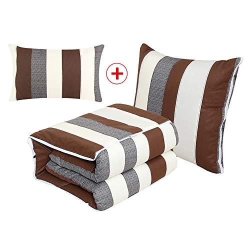 ARAYACY Cushion Pillow, Cotton Pillow Quilt Office Lunch Break Dual-Use Car Mat Siesta Small Pillow,A ()