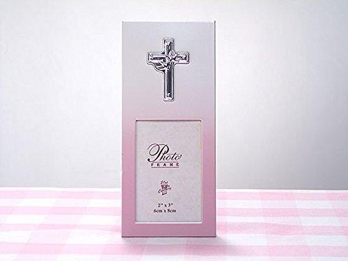 Pink Metal 2x3 Frame w/ Cross Design.