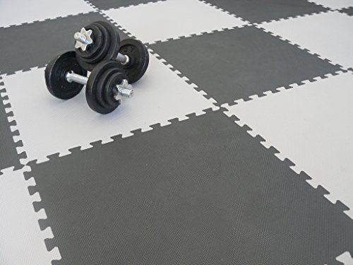 We Sell Mats Charcoal Grey 16 Square Ft (4 Tiles + Borders) Foam Interlocking Floor Square Tiles by We Sell Mats (Image #8)