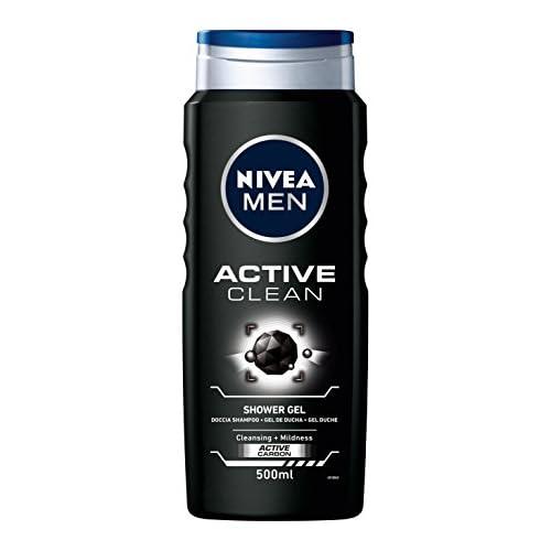 chollos oferta descuentos barato NIVEA MEN Gel de Ducha Active Clean Paquete de 12 x 500 ml Total 6 l
