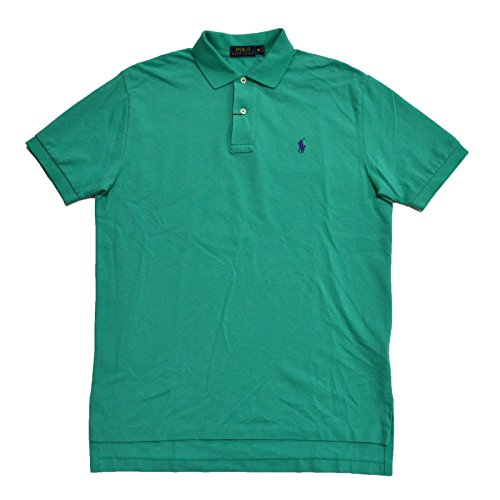 Polo Ralph Lauren Mens Classic Mesh Polo Shirt (Mint Purple Pony, ()