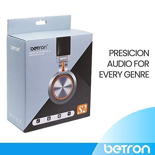 Amazon.com: Betron S2 Wireless Bluetooth Headphones on Ear Earphones with Bass Driven Sound: Home Audio & Theater