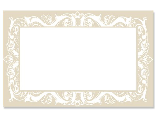50 pack Pearl Lace BorderNo Sentiment Enclosure Cards (20 unit, 50 pack per unit.) by Nas