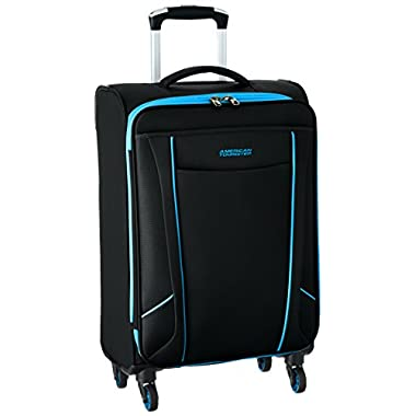 American Tourister Skylite Spinner 20, Black/Blue, One Size