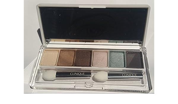 Clinique All About paleta de sombras de 6 gris materias, peltre verde, edición limitada piedra, yute marrón, bronce satinado, marfil Bisque: Amazon.es: Belleza