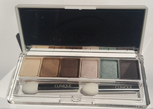 - clinique All about shadow palette of 6 Grey Matters, Pewter Green, Limited Edition Stone, Jute Brown, Bronze Satin, Ivory Bisque